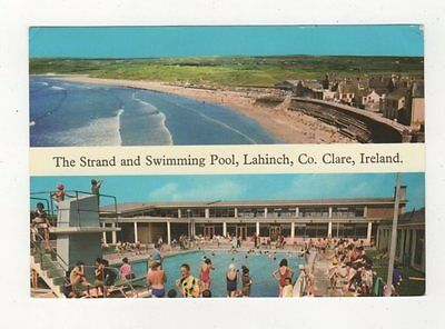 The Strand & Swimming Pool Lahinch Co Clare Ireland 1978 Postcard 879a