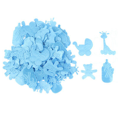 100pcs BABY SHOWER PARTY CHRISTENING NAMING BOY GIRL UNISEX DECORATIONS Blue