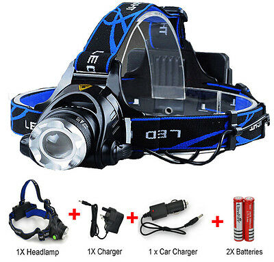 6000LM XM-L T6 Running Rechargeable Headlamp Head Light Lamp Torch