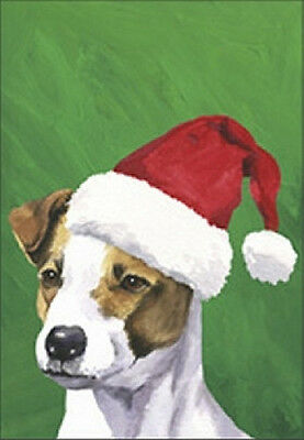 Large Indoor/Outdoor Christmas Flag BVV - Jack Russell Terrier 27024