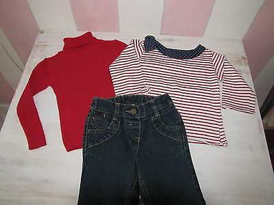 Girls  Next & D`arcy Brown Outfit Set  PERFECT CONDITION  Age:2-3