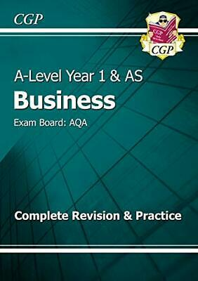 A-Level Business: AQA Year 1 & AS Complete Revision & Practice (... by CGP Books