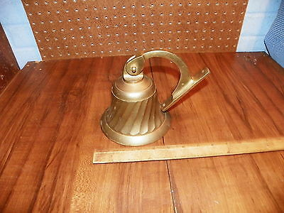 Vintage Brass Door Bell - Swirl Design
