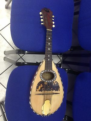 DOMENICO ZANONI  Antique Vintage  round back mandolin with original case