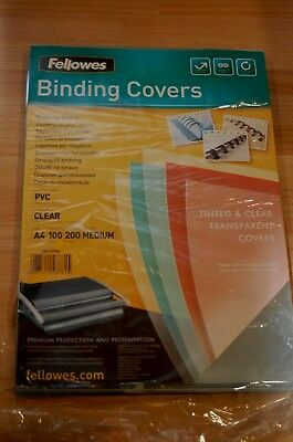 [Pack of 100] A4 Binding Covers Copylux Grey Fellowes 53804
