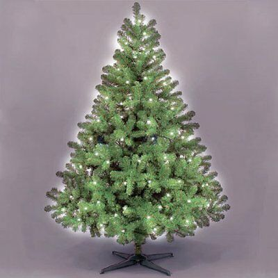 180cm Lomond Spruce Artificial Green Christmas Tree With 100 Ice White Lights