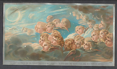 C11446 V Large Victorian Tuck Xmas Card: Angels