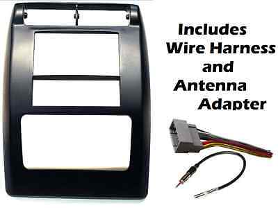 2005 07 dodge double din silver dash kit install w wiring harness new 2003 2006 jeep wrangler tj double din radio install dash kit wiring harness