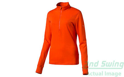 New Womens Puma Golf 1/4 Zip Pullover SM Cherry Tomato Dry Cell 570544 MSRP $65