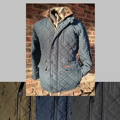 "Men's Classic Quilted Jacket - English Utopia ""A.L. Morton"" - Various Colours"