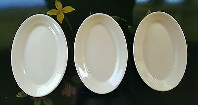 3pcs - Vtg Shenango Tan Oval Restaurant Side Plates 8.5in P-7 USA