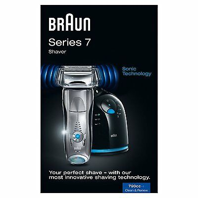 BNB Braun Series 7 790cc-4 Men's Electric Foil Shaver with Clean Charge Station