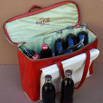 COCA COLA Essen Picknick Kühl Tasche ORIGINAL um 1960 Party KÄFER Cabrio VESPA