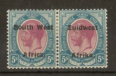 South West Africa 1926 5/- Pair SG38 Mint