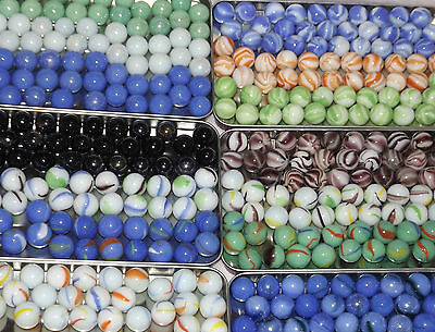 "COLLECTORS MARBLES 50 x SMALL 16mm 0.6"" OPAQUE ASS COLOURS *YOU CHOOSE*"