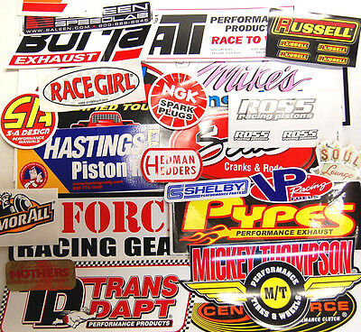 24+ Grab Bag of Racing Decals Stickers Tool Box Man Cave NHRA Nascar AFX Gasser