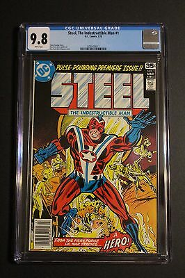 STEEL the Indestructible Man #1 DC 1978 Legends of Tomorrow CW TV CGC NM/MT 9.8
