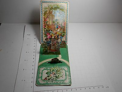 Antique Victorian Valentines Mechanical Card Thine For Ever Pop Up