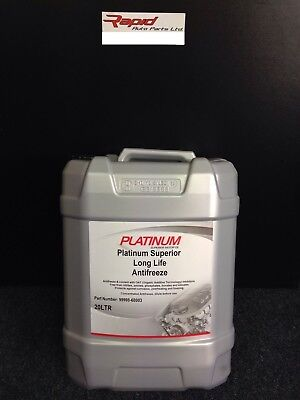 20 LTR PLATINUM  Ethylene Glycol CONCENTRATED RED LONGLIFE (5yr) ANTIFREEZE -