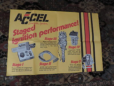 OLD ACCEL POSTER RACING MOTORCYCLE IGNITION PARTS  free shipping
