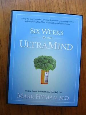 Six Weeks To An ULTRAMIND by Mark Hyman complete set w/ 9 DVDs Workbook & more