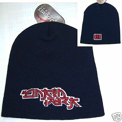 Linkin Park! Red Raised Lp Logo Blue Ski Hat Beanie New