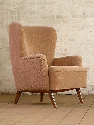 Mid Century Retro Cocktail Wing Chair Armchair Sessel Fauteuil Vintage 60s 50s