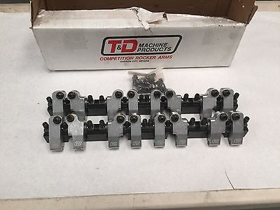 "T&D shaft Rockers Chevy  SBC Brodix 4.500"" bore space heads 2290 13deg"