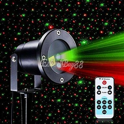 Christmas Star Projector Lights Waterproof Xmas Led Shower Motion+Remote Control