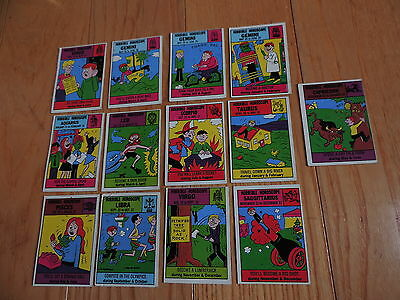 13 Old 1972 Philadelphia Gum Horrible Horoscopes Trading Cards free shipping