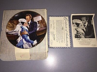 1989 Gone With The Wind Golden Anniversary A QUESTION OF HONOR Ltd Ed Plate