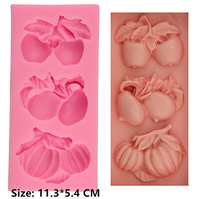 Vegetable Fruits Silicone Cake Mould Fondant Sugar Craft Chocolate Decorate Tool