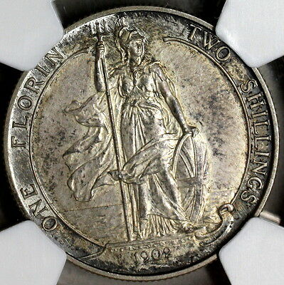1902 NGC PF 61 Silver Florin Matte Proof GREAT BRITAIN Coin (16112102C)
