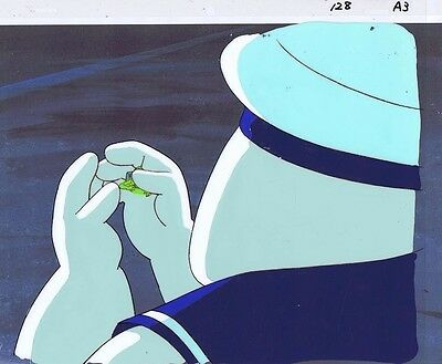 The Real Ghostbusters Original Production Animation Cel & Copy Bkgd #A12501