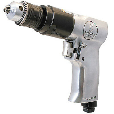 Sunex Tools 3/8 in. Reversible Air Drill with Geared Chuck SX223 NEW