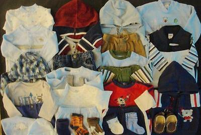 Baby Boy Size 3-6 & 6 Months Fall Winter Mixed Clothes Outfit Lot #43