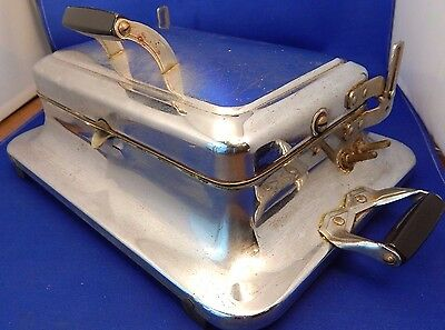 Vintage Electrahot USA Chrome Sandwich Grill / Toaster/ Griddle  NO POWER CORD