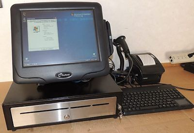 Radiant P1515 Pos Terminal Touch Screen Complete System Printer & Cash Drawer