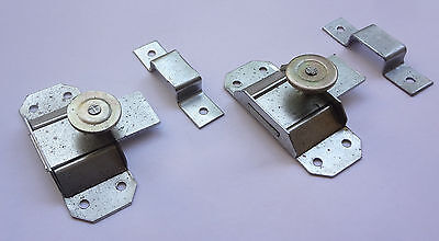 Lot 2 Vintage French Slide Bolt Latch Lock Door Latches  NOS  Free Shipping