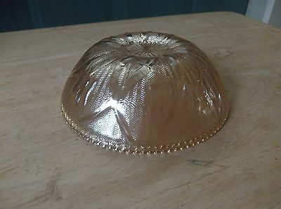 Jeannette Depression Glass iris and Herringbone Carnival 4 1/2-Inch Berry Bowl