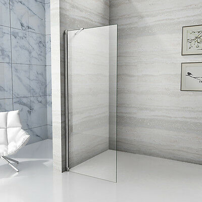 Aica 1850mm Wet Room Shower Screen Enclosure Walk In 6 NANO Glass Cubicle Panel