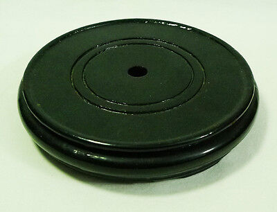 Black Oriental Furniture Lacquered Wooden Round Plant Pot Stand