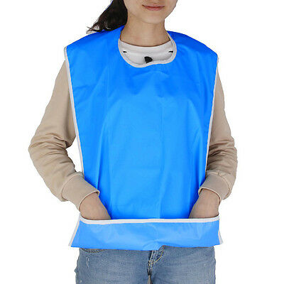 Large Waterproof Adult Mealtime Bib  Clothing Protector Dining Cook Apron