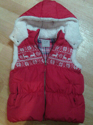 Immaculate Girls Next Christmas Gilet/body Warmer  Age 11-12 Years