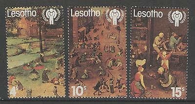 Lesotho Sg379/81 1979 Year Of The Child Mnh