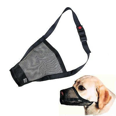 Pet Dog Muzzle Breathable & Adjustable Stop Biting Barking Nipping Chewing