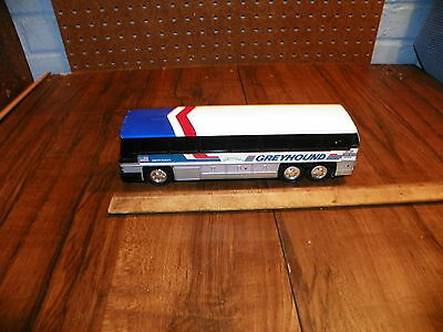 Vintage GREYHOUND American Cruiser Bus #200 Plastic Coin Bank 10""