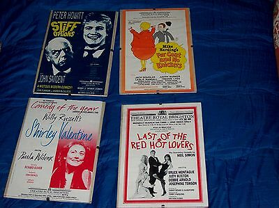 Set Of 2 Framed A5 Sized Posters For Theatre Royal Brighton, Comedies, 1988/89