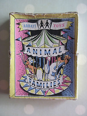 Animal Families Vintage Card Game By Abbatt Toys Very Rare