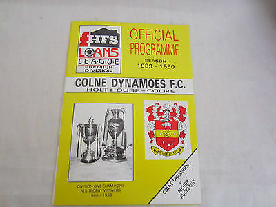 1989-90 HFS LOANS LEAGUE COLNE DYNAMOES v BISHOP AUCKLAND ( LAST EVER GAME COLNE